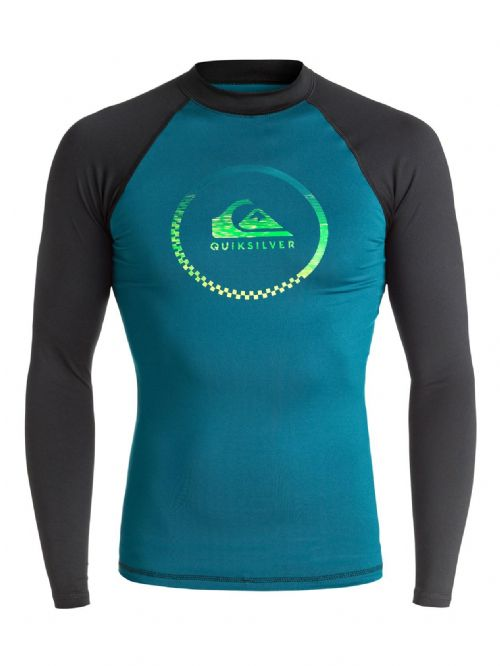 QUIKSILVER MENS RASH VEST.ACTIVE UPF50+ LONG SLEEVED SURF T SHIRT TOP 7S/66/XBBK